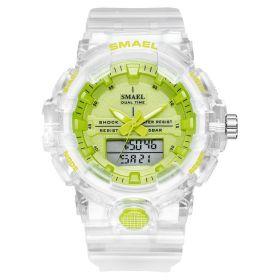 Smael 8025 Dámské duální hodinky Zelené
