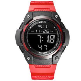 Smael 1335 Unisex digitální hodinky Červené