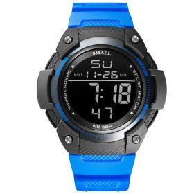 Smael 1335 Unisex digitální hodinky Modré