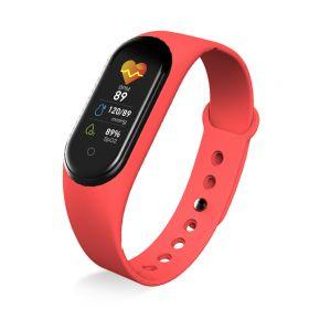 Sportovní náramek M5 s OLED displejem - Červený