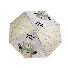 Dětský vystřelovací deštník medvěd Zelený