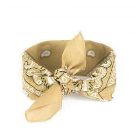 Bavlněný šátek Bandana Béžový