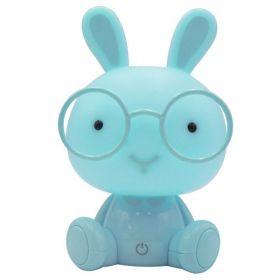 Dětská led stmívající stolní lampička Modrý králík