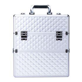 DIAMOND dvoupatrový kosmetický kufr XXL Bílý diamant