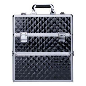 DIAMOND dvoupatrový kosmetický kufr XXL Černý diamant