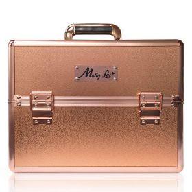 MollyLac kosmetický kufr XL na laky Rose golden