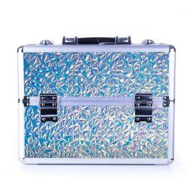DIAMOND kosmetický kufr XL Holo Blue