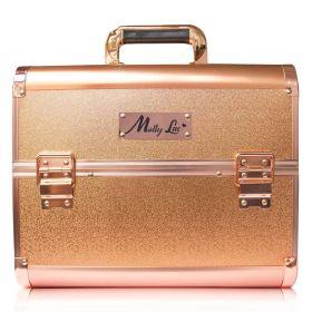 MollyLac kosmetický kufřík L Rose golden