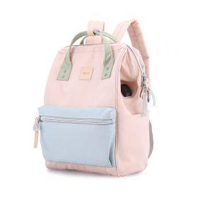 Himawari dámský batoh USB port Turner Růžová